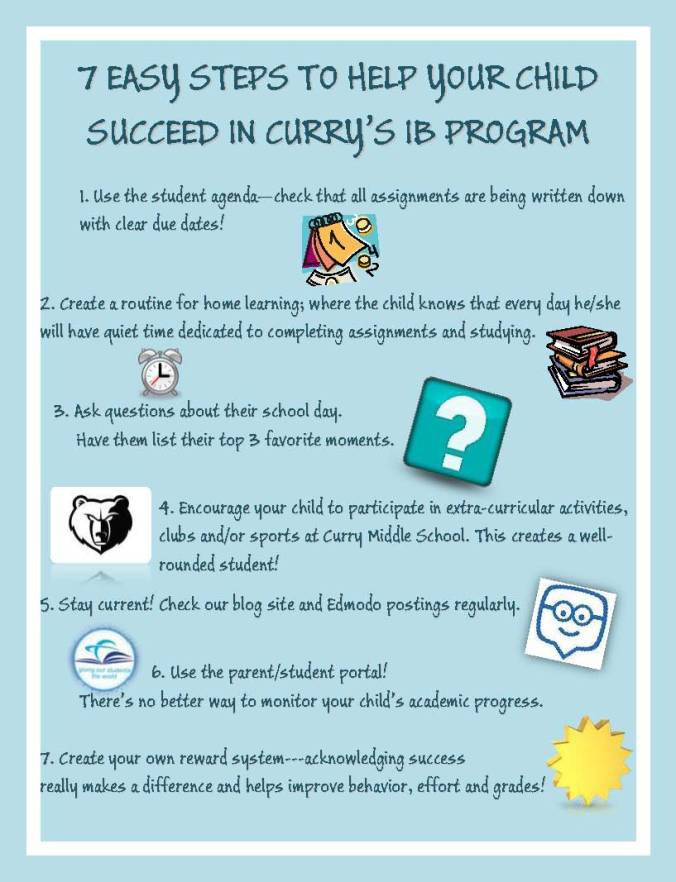 7 TIPS TO HELP YOUR CHILD SUCCEED IN CURRY