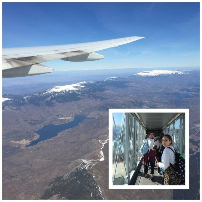 Flying over the Sierra Nevada